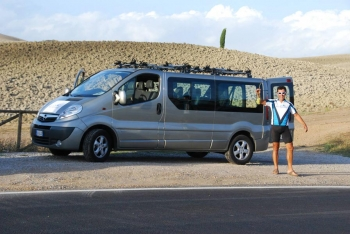 van support for bike holidays