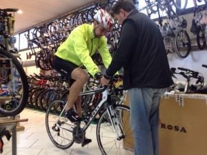 Set-up for a rental bike in GIPPO store